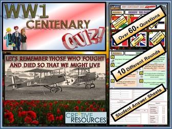 WW1 -100 Years - World War 1 Centenary Quiz Lesson