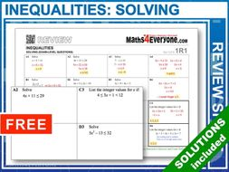 GCSE Revision (Solving Inequalities)