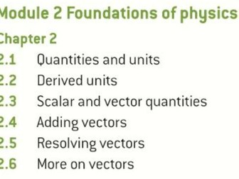 OCR AS level Physics: Foundations of Physics
