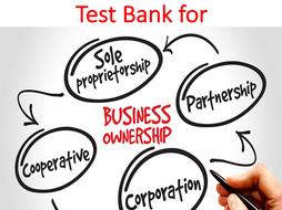 Test Bank Entrepreneurship, New Ventures, and Business Ownership