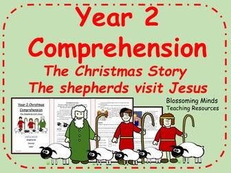 Year 2 Christmas comprehension - The shepherds visit Jesus