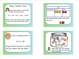 Year 2 Greater Depth Mastery Reasoning Tasks