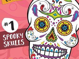 Sugar Skull Color Fun #1 – Spooky Skulls {Coloring Book} by ...