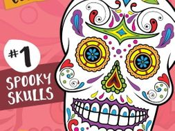 Sugar Skull Color Fun #1 – Spooky Skulls {Coloring Book}