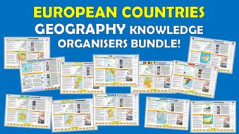 European Countries KS2 Geography Knowledge Organisers Bundle!