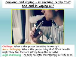 Drugs, Smoking, Alcohol Health PSHE