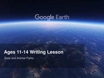 Google Earth Education Writing Lesson: Zoos and Animal Parks #GoogleEarth