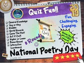 National Poetry Day Quiz