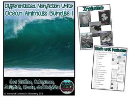 Differentiated Nonfiction Units: Ocean Animals Bundle 1