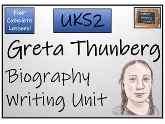 UKS2 Literacy - Greta Thunberg Biography Writing Unit