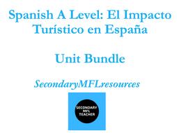 Spanish A Level Bundle: the Impact of Tourism in Spain  / El impacto turístico en España (Edexcel) 18 Resources