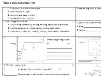 Edexcel CC4 Chemistry Knowledge Assessment