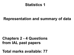 Edexcel Statistics 1 Questions from IAL 2014-2016 past