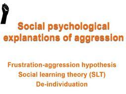 AQA psychology Aggression Social psychological explanations of aggression