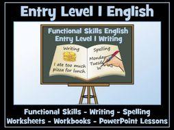Functional Skills English - Entry Level 1 Writing