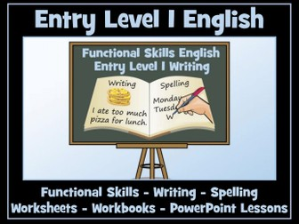 Functional Skills English - Entry Level 1 Writing