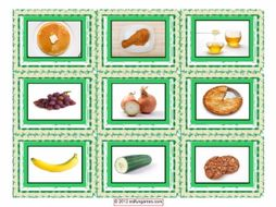 Food Type Cards 4 Pages = 36 Cards