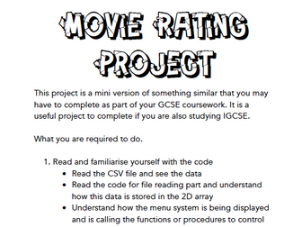 [GCSE + IGCSE] Python Coursework Mini Project 2D arrays, File Reading and Writing and Sorting