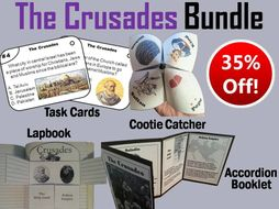 The Crusades Task Cards and Activities Bundle