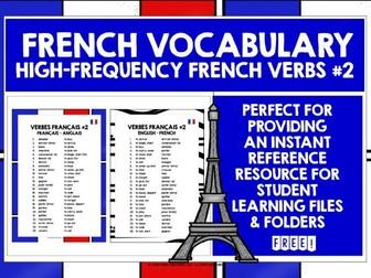 FRENCH VERBS LIST #2