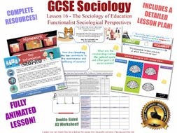 Functionalist Views - Education - L16/20 [ WJEC EDUQAS GCSE Sociology]