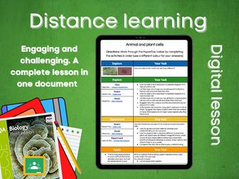 SB1.2 Animal and plant cells Distance learning (AQA GCSE Bio)