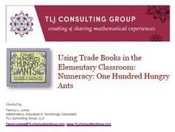 Using Trade Books in the Elementary Classroom: Numeracy: One Hundred Hungry Ants