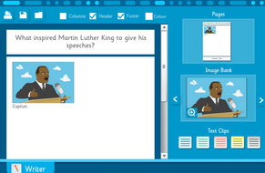 Make Your Own Information Sheet: Martin Luther King Jr. Interactive Activity - KS2
