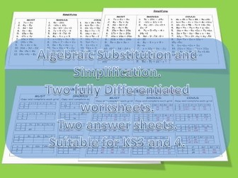 Algebraic Substitution and Simplification