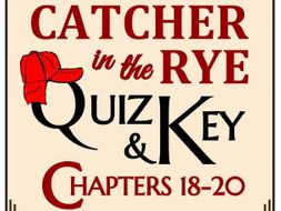 Catcher in the Rye Quiz - Chapters 18-20