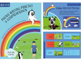 Writing And Comprehension Practice: Zoggy, Dan And The Dog (4-8 years)