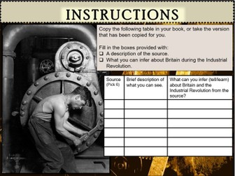 KS3 History The Industrial Revolution c.1750-c.1900 Source Inference Lesson 2