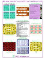 Past Simple Tense with  Irregular Verbs 7 Game Plus 2 Worksheet Bundle