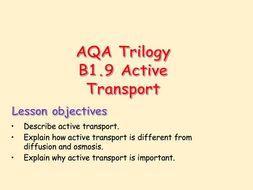 AQA Trilogy B1.9 Active Transport