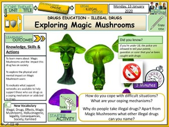 Drugs - Magic Mushrooms Class A