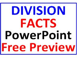 Division Facts PowerPoint One FREE PREVIEW