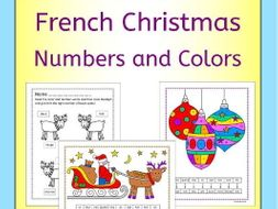 French Christmas Color and Number Activities