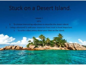'Stuck on a Desert Island' SPAG/writing to persuade and argue SoW