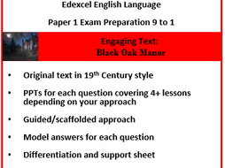 Edexcel English Language Paper 1 9-1.