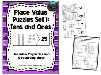 Place Value Puzzles Set 1: Tens and Ones