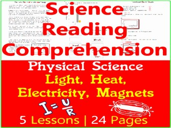 Light, Heat, Electricity & Magnetism - Physical Science Reading - Grade 3-4