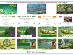 Places and Buildings Flying Frogs English PowerPoint Game