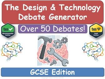 The Design & Technology Debate Generator (DT, Design, Technology, DT)