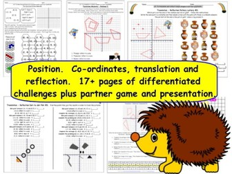 Geometry Position and Direction Y6 Differentiated Challenge Worksheets and Presentation