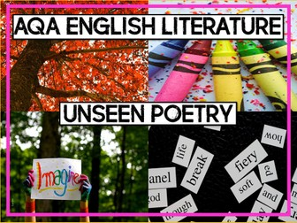 AQA GCSE English Literature Paper 2: Unseen Poetry Lessons