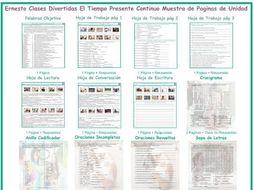 Present Continuous Tense Spanish Unit Bundle