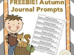 Autumn Journal Prompts FREEBIE!