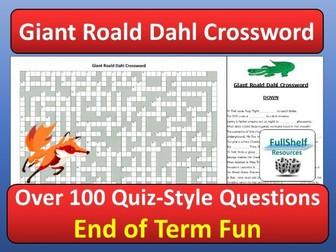 Roald Dahl Crossword Quiz