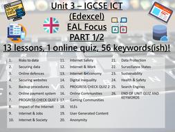 ICT IGCSE Edexcel UNIT 3 - Operating Online (PART 1 - 13 lessons)