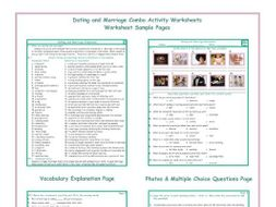 Dating and Marriage Combo Activity Worksheets
